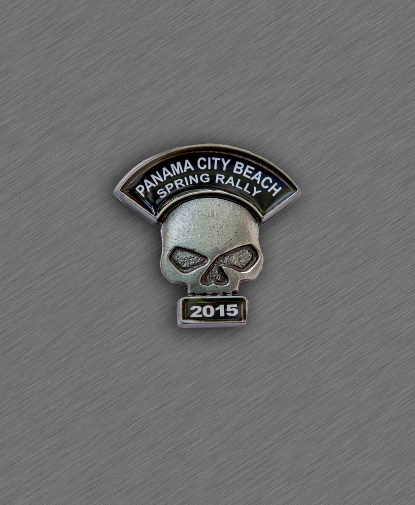 2015 Spring Thunder Beach Pin - Skull