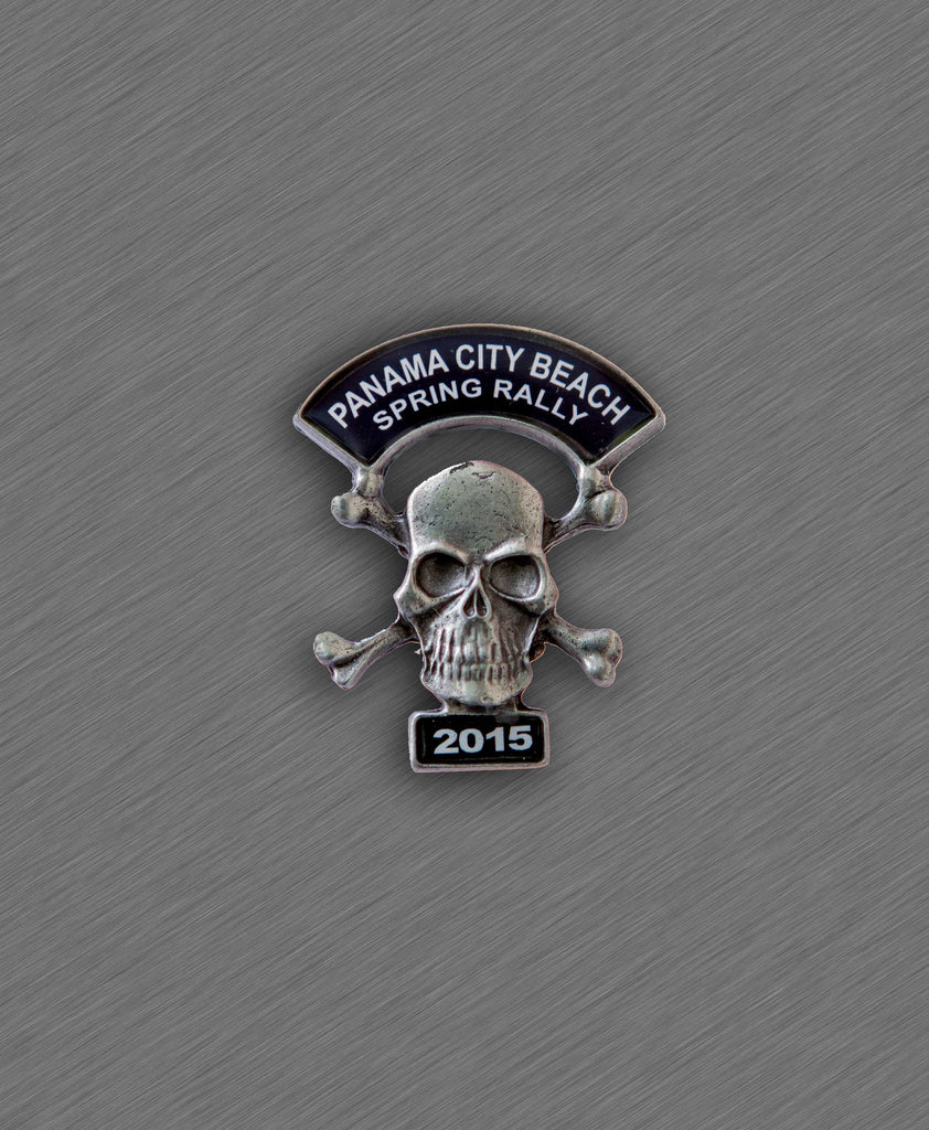 2015 Spring Thunder Beach Pin - Skull with Crossed Bones