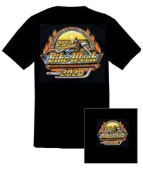2020 Daytona Bike Week Orange Sunset Black T-shirt