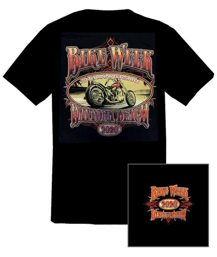 2020 Daytona Bike Week Vintage Black T-shirt
