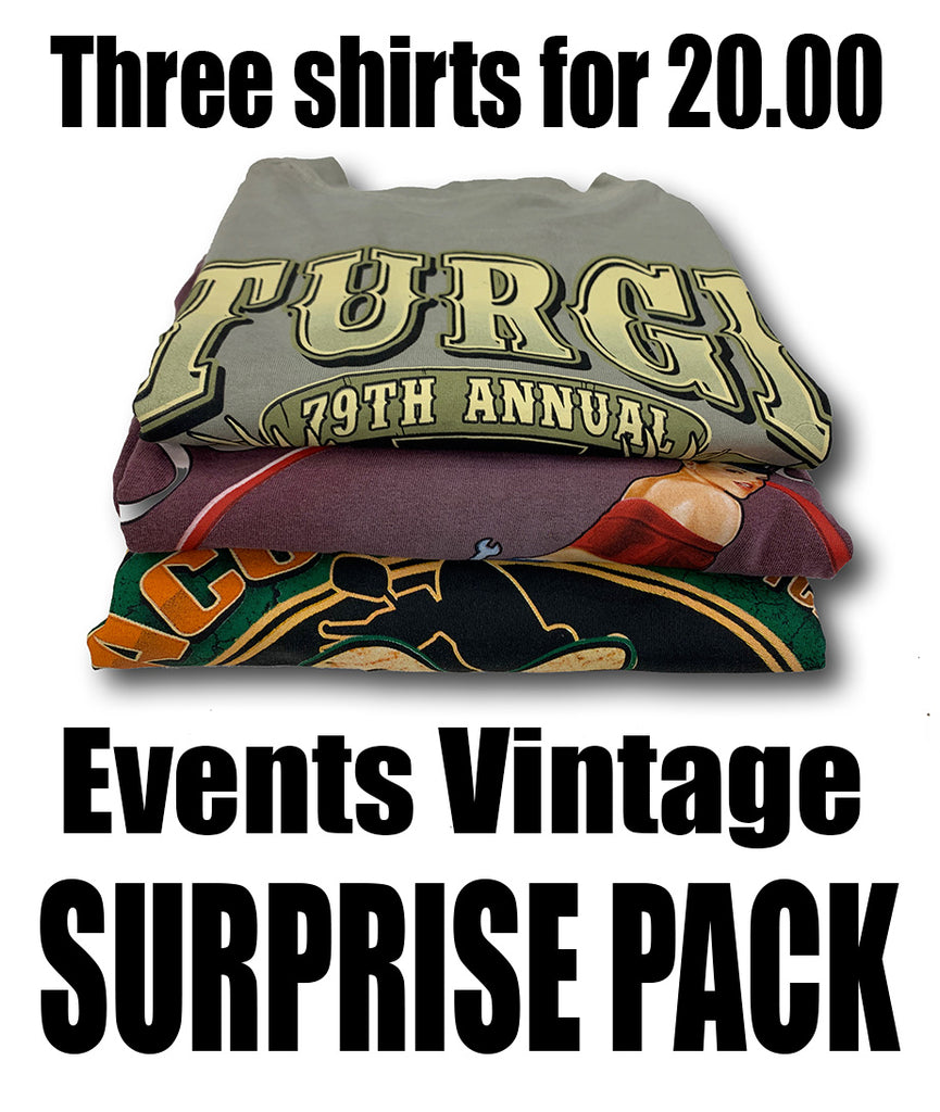 Event Vintage T-Shirts Surprise Pack 3 for $20.00