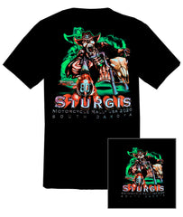 2020 Sturgis Skeleton Cowboy Black T-shirt