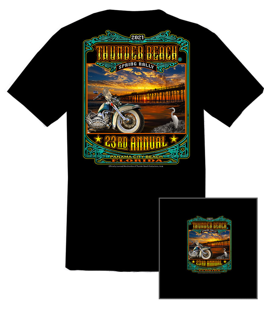 2021 Spring Thunder Beach #1 Design Black T-Shirt