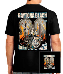 2021 Daytona Bike Week 80th Black T-shirt