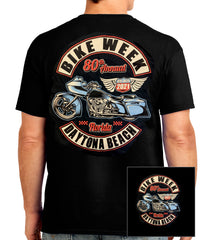 2021 Daytona Bike Week Blue Bagger Black T-shirt