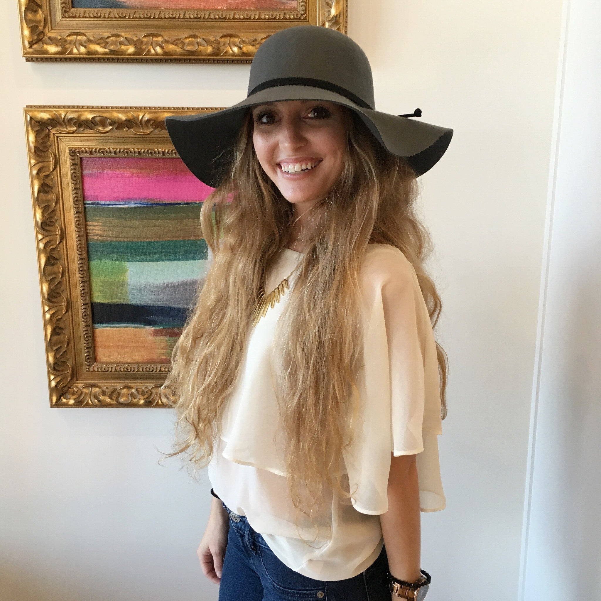 Floppy Hat at Charm Boutique
