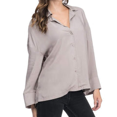 After Hours Grey Blouse