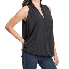 Fright Night Wrap Top from Blues & Grey's at Charm Boutique in Gulf Shores