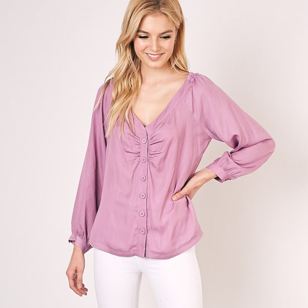 Lilac Button Up Blouse