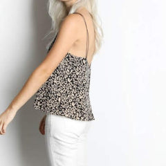 Leopard Cord Blouse from Mod Ref at Charm Boutique in Gulf Shores
