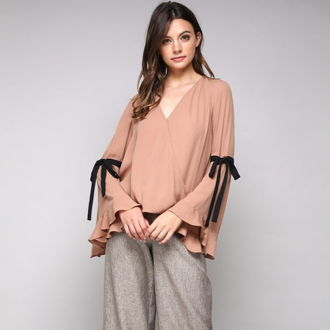 Bell Sleeve Boss Blouse