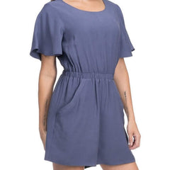 Blue for You Romper from Blues & Grey's at Charm Boutique in Gulf Shores