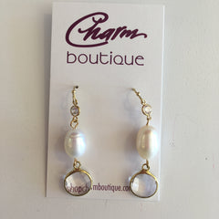 Classic Crystal & Pearl Earring
