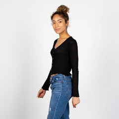 The Tayshia Button Down Knit Top