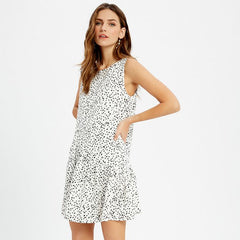 Spotted Dotted Mini Dress