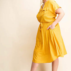Honey Mustard Shirt Dress