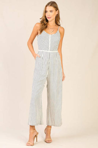 Start of Summer Stripe Jumpsuit