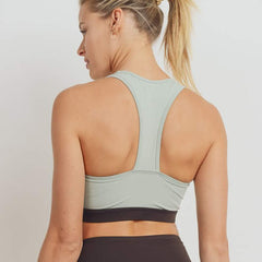Curve Sage Colorblock Sports Bra