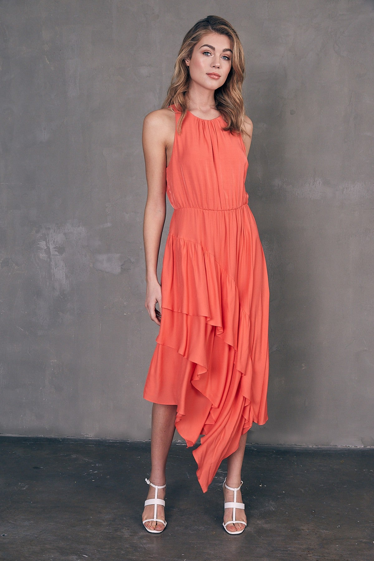 Unbalanced Ruffle Dress