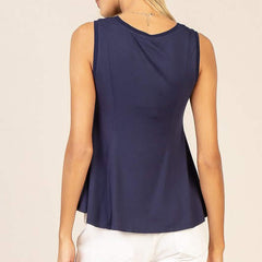 Jersey Fitted Peplum Top