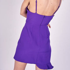 Purple Ruffle Mini Dress