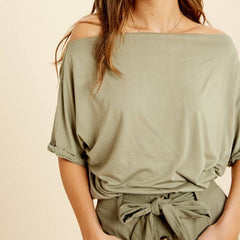 Off the Shoulder Soft Tee