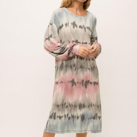 Tie Dye Sweatshirt Dress