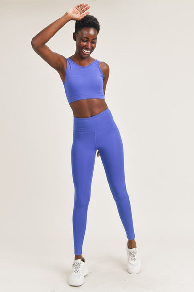 Perforated High Waist Legging