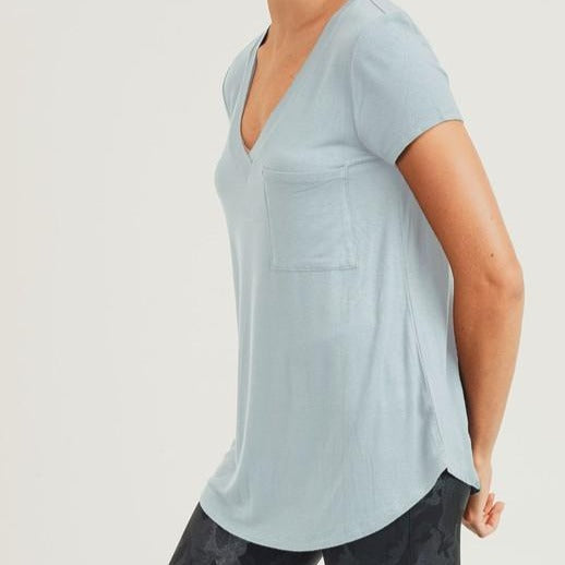 Mono B V-Neck Pocket Tee