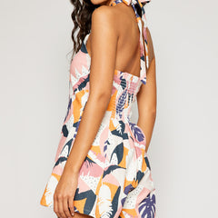 Pretty Palms Linen Romper