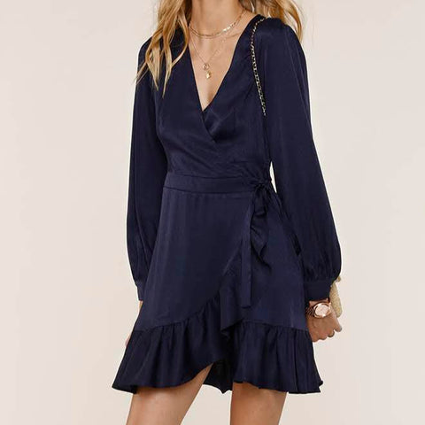 Mabel Midnight Wrap Dress