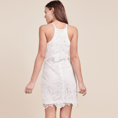 Bryn White Lace Dress from BB Dakota at Charm Boutique in Gulf Shores