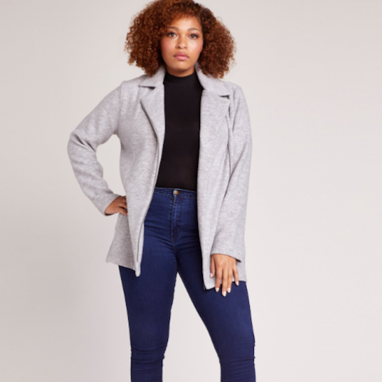 Knit It & Quilt It Grey Jacket