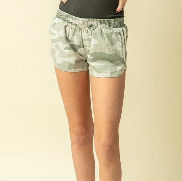 Camo & Stripe Shorts