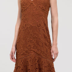 Brown Lace Midi