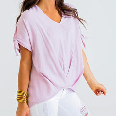 Lavender Linen Top from Karlie at Charm Boutique in Gulf Shores