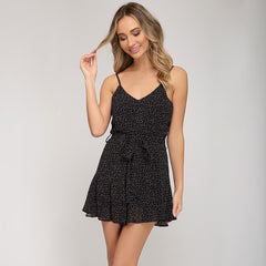 Fit & Flare Black Romper