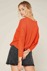Move Over Orange Knit Top