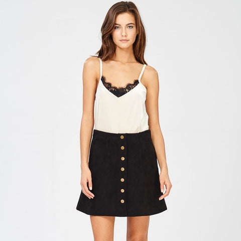 Faux Sure Mini Skirt