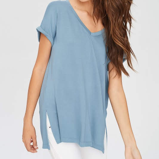 V-Neck Oversize Tee from Wishlist at Charm Boutique in Gulf Shores
