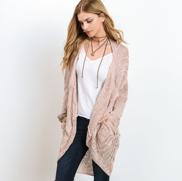 Polly Pink Cardigan from Wishlist at Charm Boutique in Gulf Shores, Alabama