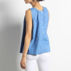 Leslie Denim Tank