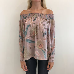Mockingjay Off Shoulder Top by Izzy and Lola at Charm Boutique