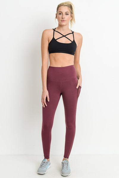 Work Them Stairs Plum Leggings