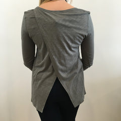 Burn-out Wrap Back Tee