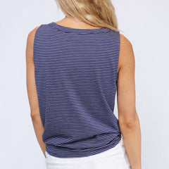 Stripe Days Tank by Fantastic Fawn at Charm Boutique in Gulf Shores