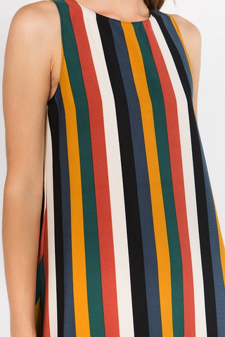 Colors of Fall Stripe Dress