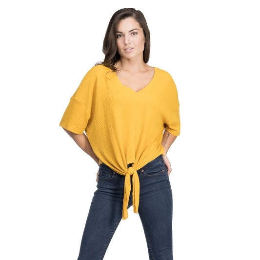 Jackie Mustard Top from Blues & Grey