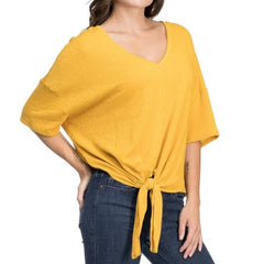 Jackie Mustard Top from Blues & Grey's at Charm Boutique in Gulf Shores