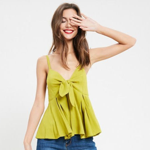 Lime Baby Doll Top